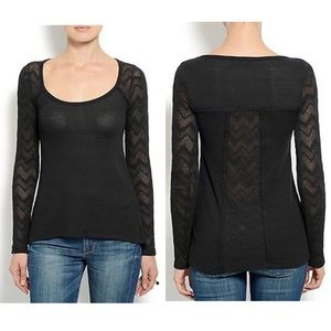 🍀 Lucky Brand Black Lace Thermal Large